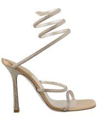 Rene Caovilla René Caovilla Crystal Strap Sandals - Metallic