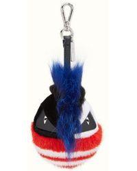 Fendi Bag Bugs Key Ring - Blue