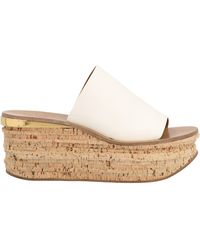 Chloé Camille Leather Platform Sandal - White