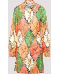 Gucci Silk Printed Dress 42 - Multicolor