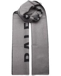 Balenciaga Logo Knitted Scarf - Grey