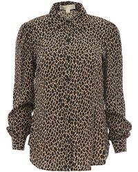 MICHAEL Michael Kors Leopard Print Fitted Shirt - Multicolor