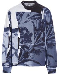 KENZO High Summer Capsule Cut-out Flowers Sweatshirt - Blue