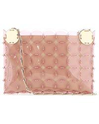 Paco Rabanne Sequin Embellished Shoulder Bag - Pink