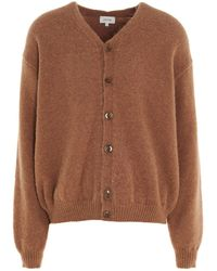 Lemaire V-neck Knitted Cardigan - Brown