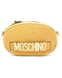 Moschino Logo Glitter Belt Bag - Metallic