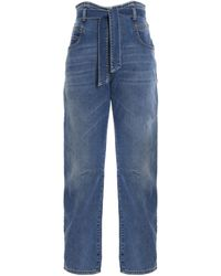 Pinko Carrot-fit Belted Jeans - Blue