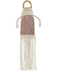 Jil Sander Knitted Fringed Handbag - Natural