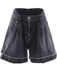 Sacai Wide Leg Shorts - Black