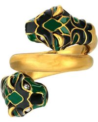 Gucci Double Tiger Head Ring - Yellow