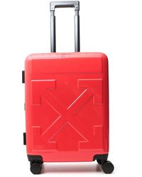 Off-White c/o Virgil Abloh Quote Luggage Carry-on Case - Red