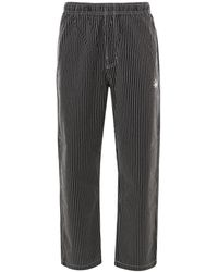 Stussy Brushed Stripe Trousers - Grey