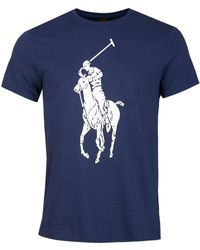 Polo Ralph Lauren Maxi Logo Print T-shirt - Blue