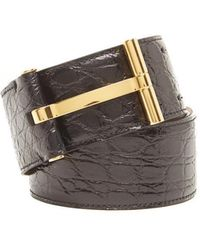 Tom Ford - Textured Leather Belt - Lyst