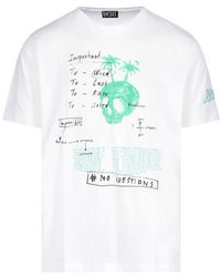 DIESEL - Graphic Logo Printed T-shirt - Lyst