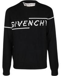 Givenchy Split Knitted Jumper - Black