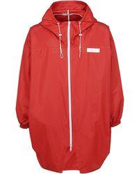 Givenchy Oversized Parka Coat - Red