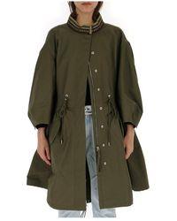 Alberta Ferretti Oversized Parka Jacket - Green