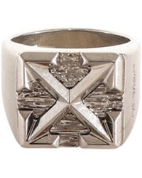 Off-White c/o Virgil Abloh Arrows Signet Ring - Metallic