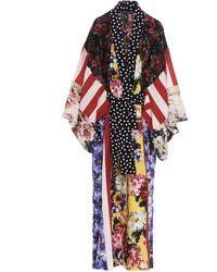 Dolce & Gabbana Patchwork Long Robe - Multicolor