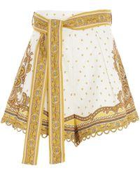 Zimmermann Bells Paisley Tuck Shorts - Multicolour