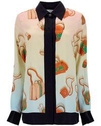 CASABLANCA Printed Long-sleeved Shirt - Multicolour