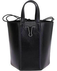 Off-White c/o Virgil Abloh Tm Black Binder Clip Bucket Bag