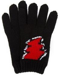 Prada Black Wool Gloves Nd Uomo - Multicolor