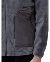 White Mountaineering Fleece Hooded Jacket - Grey