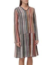 M Missoni Striped Long-sleeve Dress - Multicolor