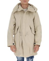 C.P. Company Hooded Parka Coat - Natural