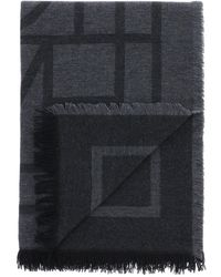 Totême Toteme Monogram Wool And Cashmere Stole - Multicolour
