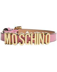 Moschino Logo Adjustable Bracelet - Pink