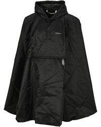 Off-White c/o Virgil Abloh Lightweight Packable Raincoat - Black