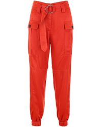 Self-Portrait - Cuffed Cargo Pants - Lyst