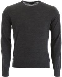 Prada Knitted Crew Neck Jumper - Grey