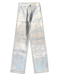 Helmut Lang Lacquered Utility Patch Pocket Jeans - Metallic