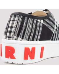 Marni Checked Print Low-top Trainers - Multicolour