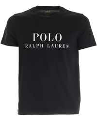 Polo Ralph Lauren Logo Print T-shirt - Black