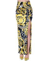 Versace Vaersace Baroque Print Long Skirt - Multicolour