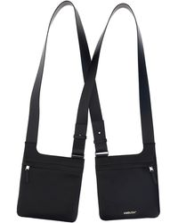 Ambush Logo Print Double Crossbody Bag - Black