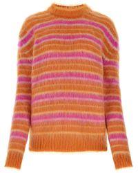 Marni Striped Knit Jumper - Pink