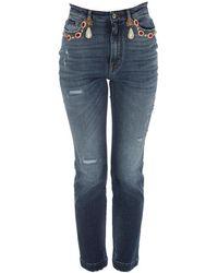 Dolce & Gabbana Ripped Skinny Jeans - Blue