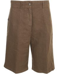 Aspesi High-rise Longline Shorts - Brown