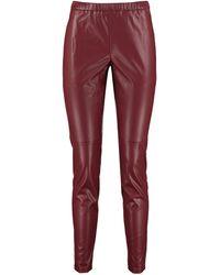MICHAEL Michael Kors Faux Leather Leggings - Red