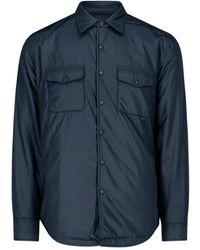 Aspesi Chest-pocket Overshirt - Blue