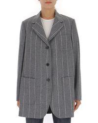 Thom Browne Shadow Stripe Sack Jacket - Gray