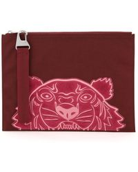 KENZO Kampus Tiger Large Clutch - Red