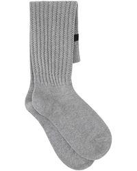 Fear Of God Melange Cotton Blend Socks Uomo - Grey