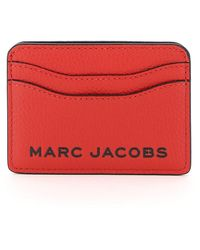 Marc Jacobs Logo Printed Card Case - Red